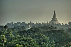Toit de la Pagode Shwedagon (Yangoon)